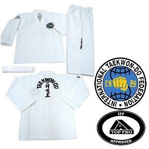 top pro kids official taekwondo itf suit more options size