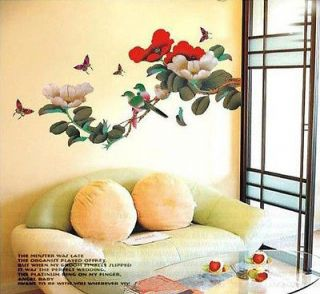 Newly listed Removable JAPANESE FLOWER TREE BIRDS Butterflies WALL