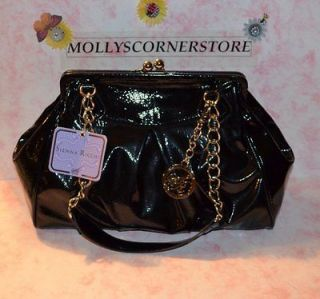 SIENNA RICCHI BLACK TIVOLI FRAME SATCHEL PURSE / HANDBAG NEW WITH TAG