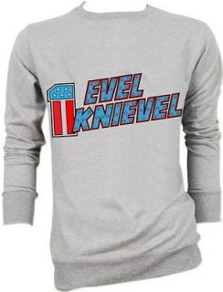 evel knievel rock biker motorcycle sweater jacket s m l