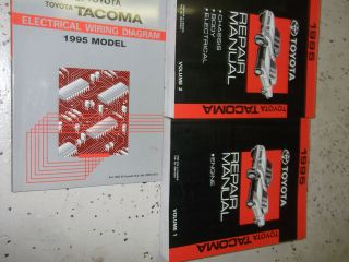 1995 Toyota Tacoma TRUCK Service Repair Shop Manual Set OEM FACTORY