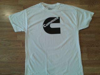 cummins c tshirt black on white teeshirt tee shirt dodge