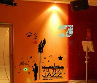 Marilyn Monroe Style Jazz Singer Wall Decor STICKER Removable Adhesive
