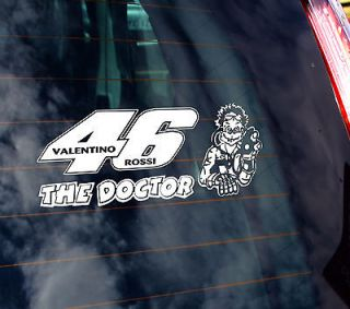 Valentino Rossi The Doctor 46 Vinyl Car Sticker NOVELT​Y SUPERBIKE