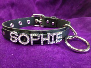 SOPHIE ROXIE SANDY SHELBY JASMINE BRANDY Personalized Black Leather