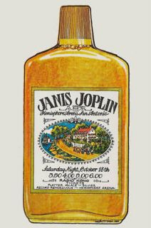 janis joplin san antonio concert poster 1969