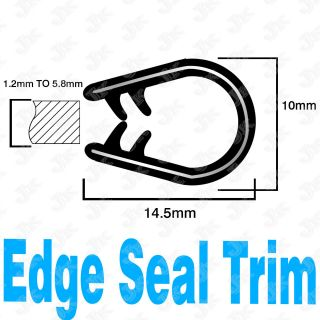 12 rubber seal molding edge trim lock thick 1 2mm