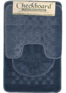 blue bathroom rug set in Bathmats, Rugs & Toilet Covers