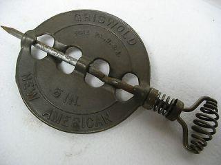 vintage griswold 5 stove pipe cast iron flue damper nos