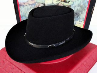 stetson cowboy hat 4x beaver fur felt black royal flush