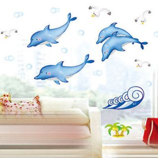 AD Smart Dolphins Removable Accents Wall Decor Sticker Decal & Vinyl