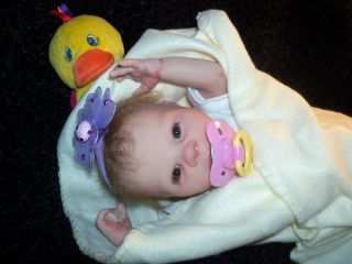 reborn baby girl tiny preemie doll, kandise you choose color eye