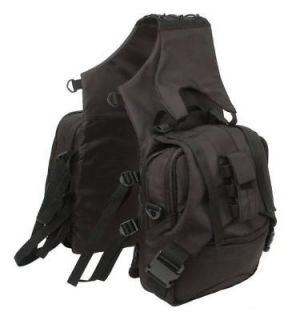 newly listed tough 1 black super saddle bag horse tack