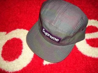 2012 F/W PAINTED CAMO PLAID BOX LOGO CAMP CAP PUR HAT COMME SAFARI CDG