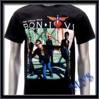 sz m bon jovi t shirt vtg retro hard rock band tour men