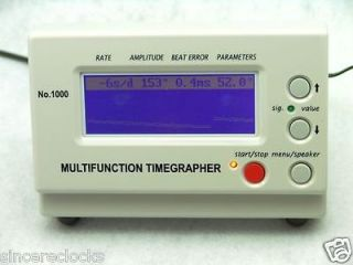 New Watch Timing Machine Multifunction Timegrapher No. 1000 +gift