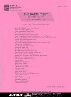 1971 chevrolet barth 28 motorhome rv brochure time left $