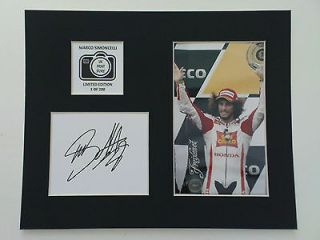 Limited Edition Marco Simoncelli Signed Mount Display MOTO GP