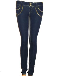 New Womens Ladies Dark Blue Stretch Skinny Jeans Size 6 to 14