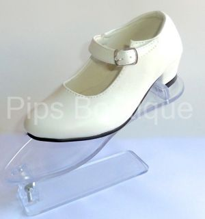 new girls spanish flamenco dance shoes white uk 10 30