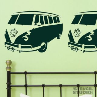 VW Camper Van Stencil, reusable wall stencil, various sizes available