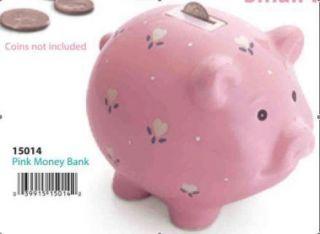 RUSS Musical Money Box/Piggy Bank Ceramic Baby Girl Pig Pink Its a
