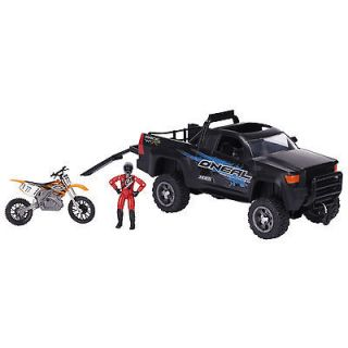 mxs dirt bike toy and truck o neal gear time
