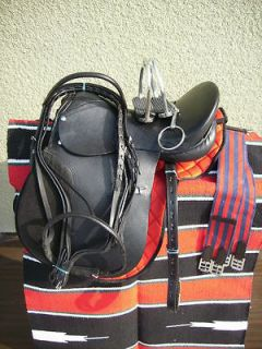 Newly listed 17 NEW BLACK ALL LEATHER JUMP ALL PURPOSE ENGLISH SADDLE