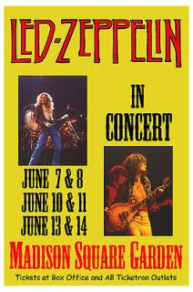 Robert Plant, Jimmy Page Led Zeppelin at Madison Square Garden Tour