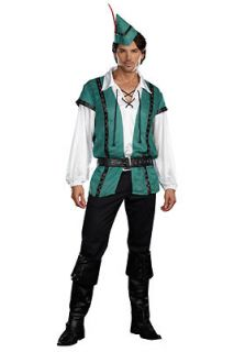 robin hood up to no good adult costume size medium