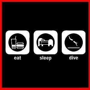 eat sleep dive scuba diver rebreather speargun t shirt from