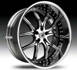 22 asanti af150 black chrome wheels rims 2 piece tone