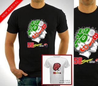 Marco Simoncelli Supersic RIP MotoGP Champion Honda Team T Shirt Shirt