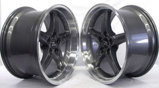 Anthracite Deep Dish Mustang Cobra R Wheels 18x9 &10 inch 1994 2004