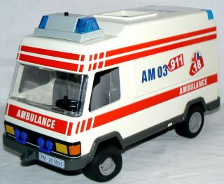 playmobile ambulance 1994 pre owned with extras time left $