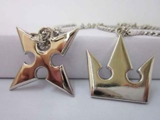 Kingdom Hearts Sora Crown & Roxas Cross Necklaces New &