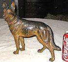 VINTAGE CAST IRON HUBLEY GERMAN SHEPHERD DOG DOOR STOP