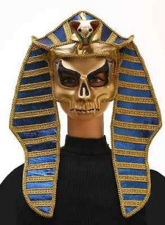 king tut egyptian mask skull skeleton mummy king pharaoh snake costume