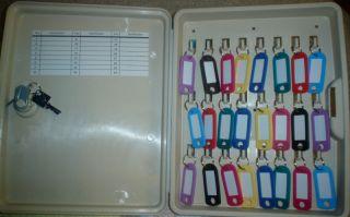 24 hook key cabinet locking wall mount box 24 tags