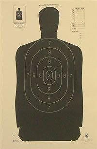 100 b34 b 34 p silhouette pistol rifle shooting targets