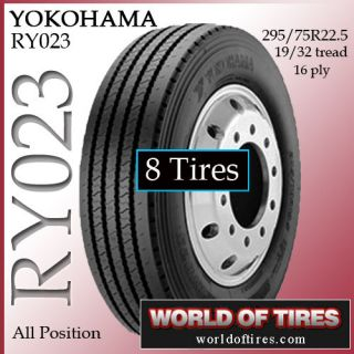 tires Yokohama RY023 295/75R22.5 16 ply tire semi truck tires 22.5lp