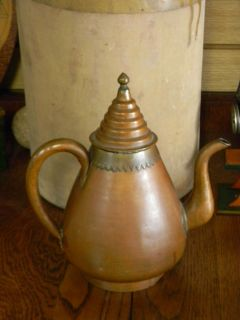 Beautiful Vintage Ornate Asian Copper Tea / Water Pitcher (EP