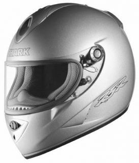 Shark RSR2 Furtif Silver Motorcycle Helmet Adult Size Large L