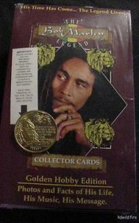 BOX LOT OF BOB MARLEY CARDS GOLD COIN REGGAE the wailers RASTA ART SKA
