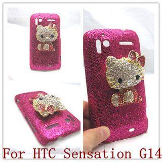 Bling red hello kitty Case Cover for HTC Sensation 4G G14