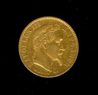 1866 bb gold france 10 francs strasbourg mint time left