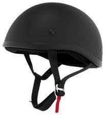 SKID LID FLAT BLACK HALF BEANIE DOT HELMET MOTORCYCLE XL X LARGE