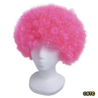 Economy Pink Afro Wig ~ HALLOWEEN 60s 70s DISCO CLOWN COSTUME PARTY