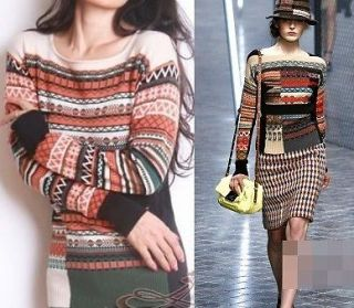 NEW Sonia by Sonia Rykiel Runway Various Stripes Cotton Sweater S or L