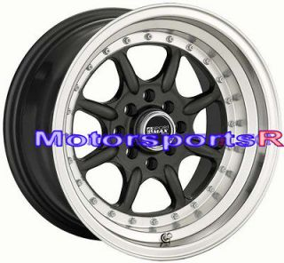 XXR 002 Gun Metal Rims Wheels Deep Dish Lip Stance 4x100 84 91 BMW E30